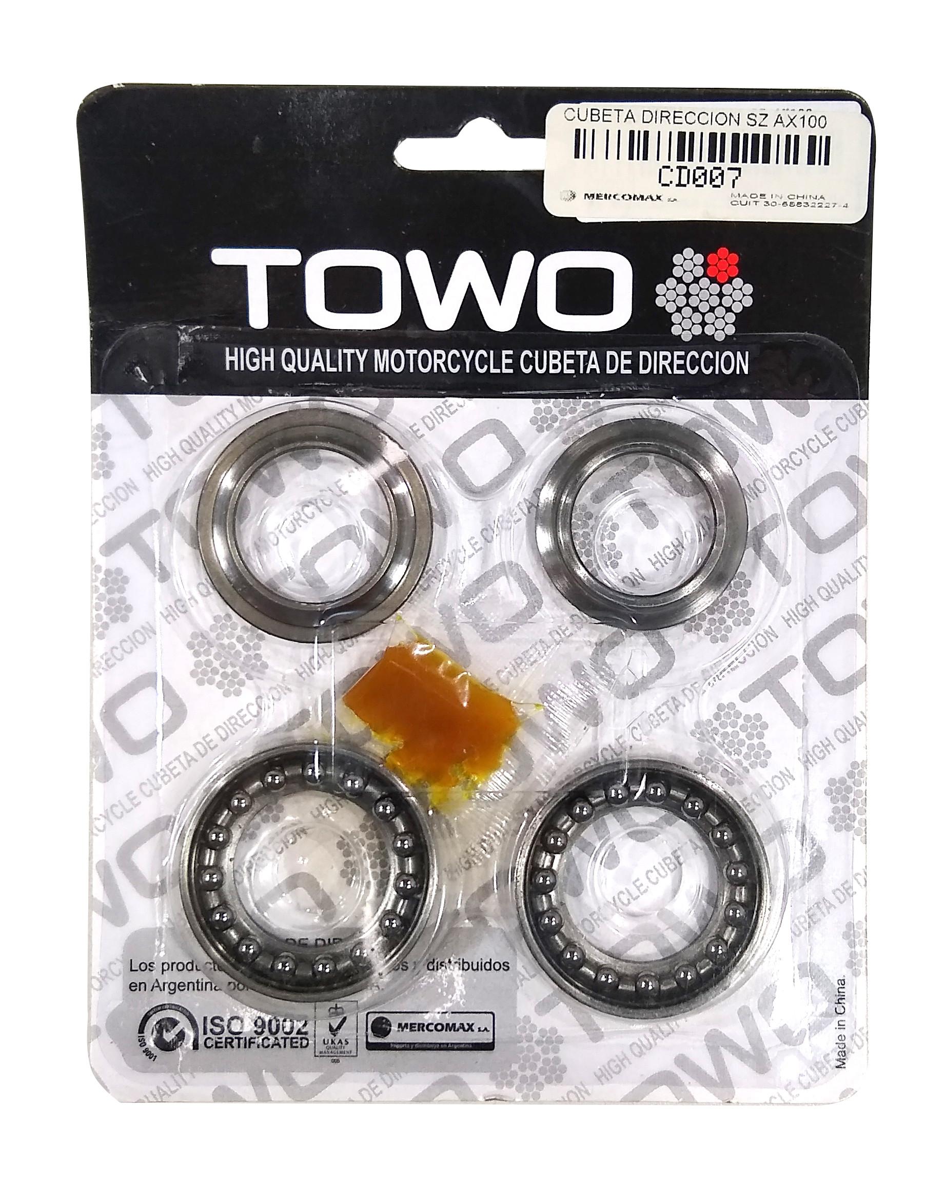 Juego Cubetas Direccion Suzuki Ax 100 Towo