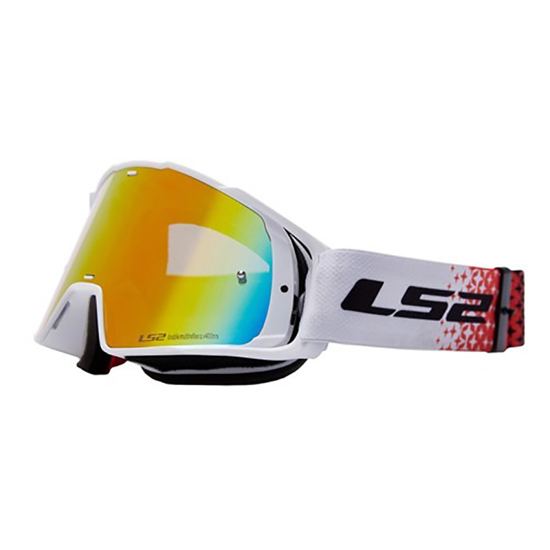 Antiparras Enduro Ls2 Swift Trans Blanco Rojo