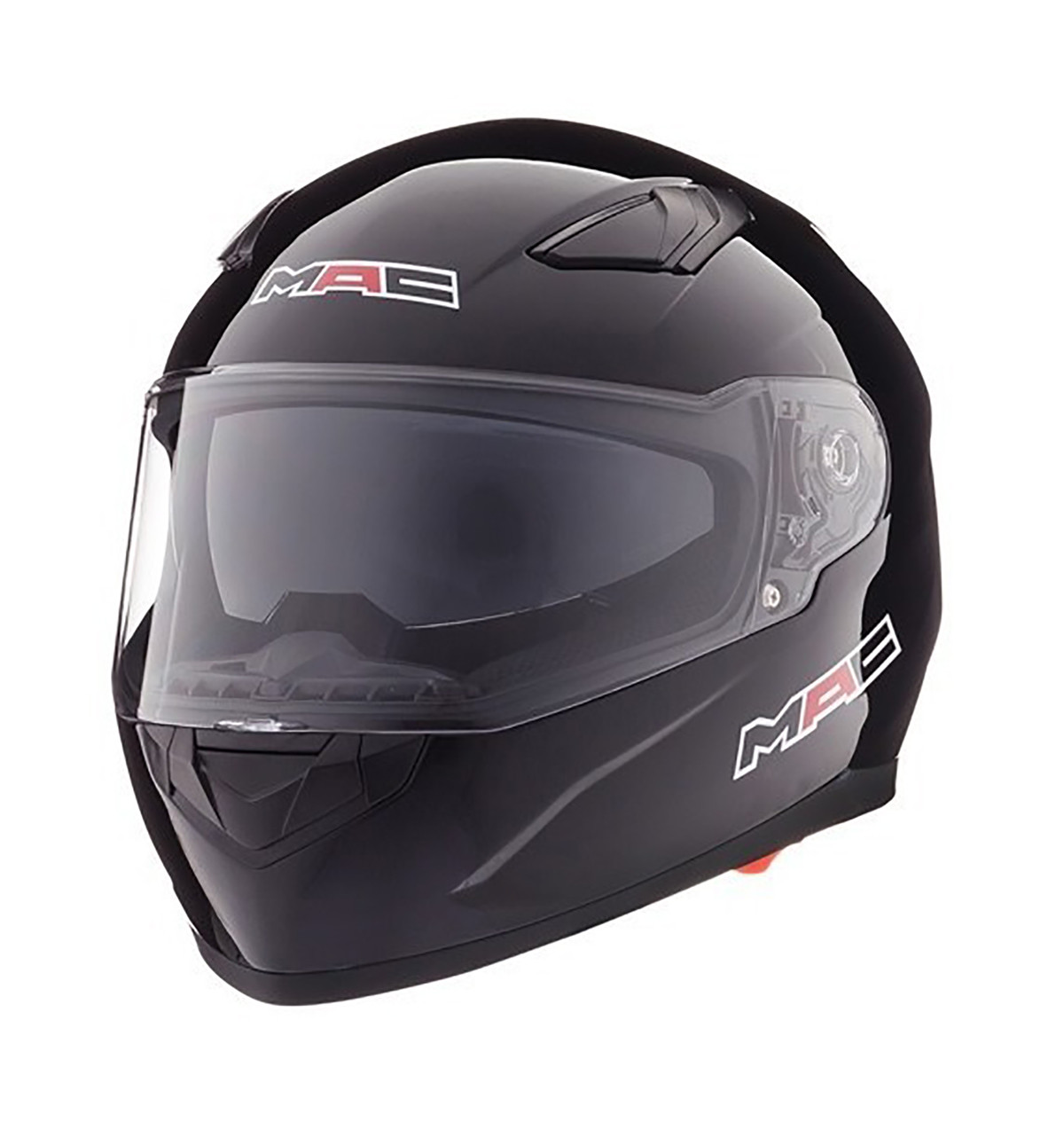 Casco Integral Doble Visor Mac Gravity Negro Brillo