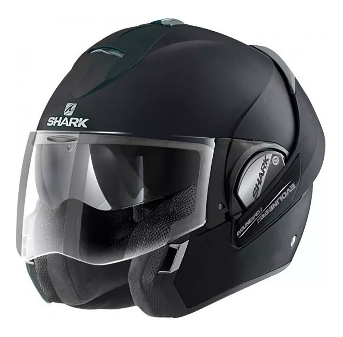 Casco Rebatible Shark Evoline 3 Negro Mate