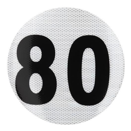 Calco Velocidad Maxima 80 Reflectivo