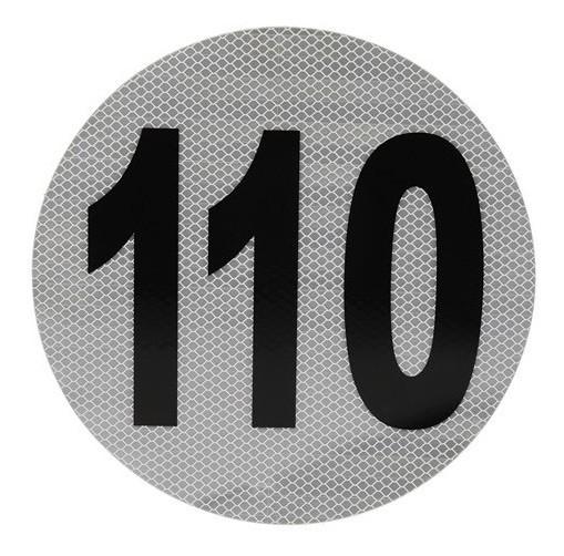 Calco Velocidad Maxima 110 Reflectivo