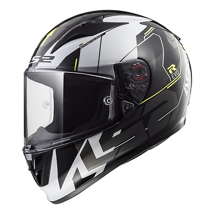 Casco Integral LS2 FF 323 Arrow R Evo Techno Blanco