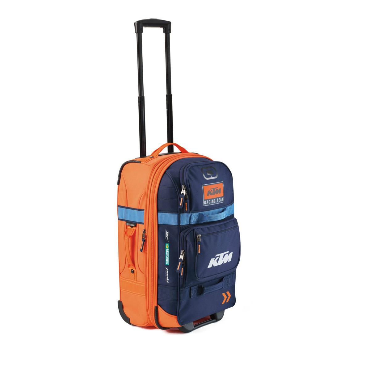 Valija de Viaje Ktm Layover Con Ruedas Azul Naranja Original