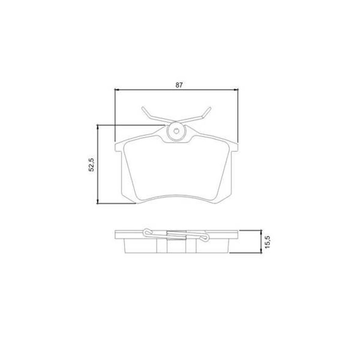 Pastillas Hitech 0184 Freno Trasero Peugeot 405 308 Audi A1 A3