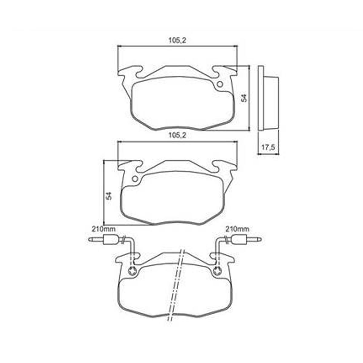 Pastillas Hitech 0192 Freno Delantero Renault 9 11 19