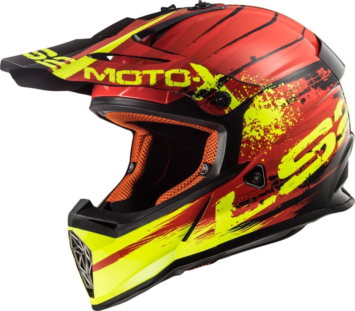 Casco Cross Ls2 Ff437 Fast Gator Rojo Blanco