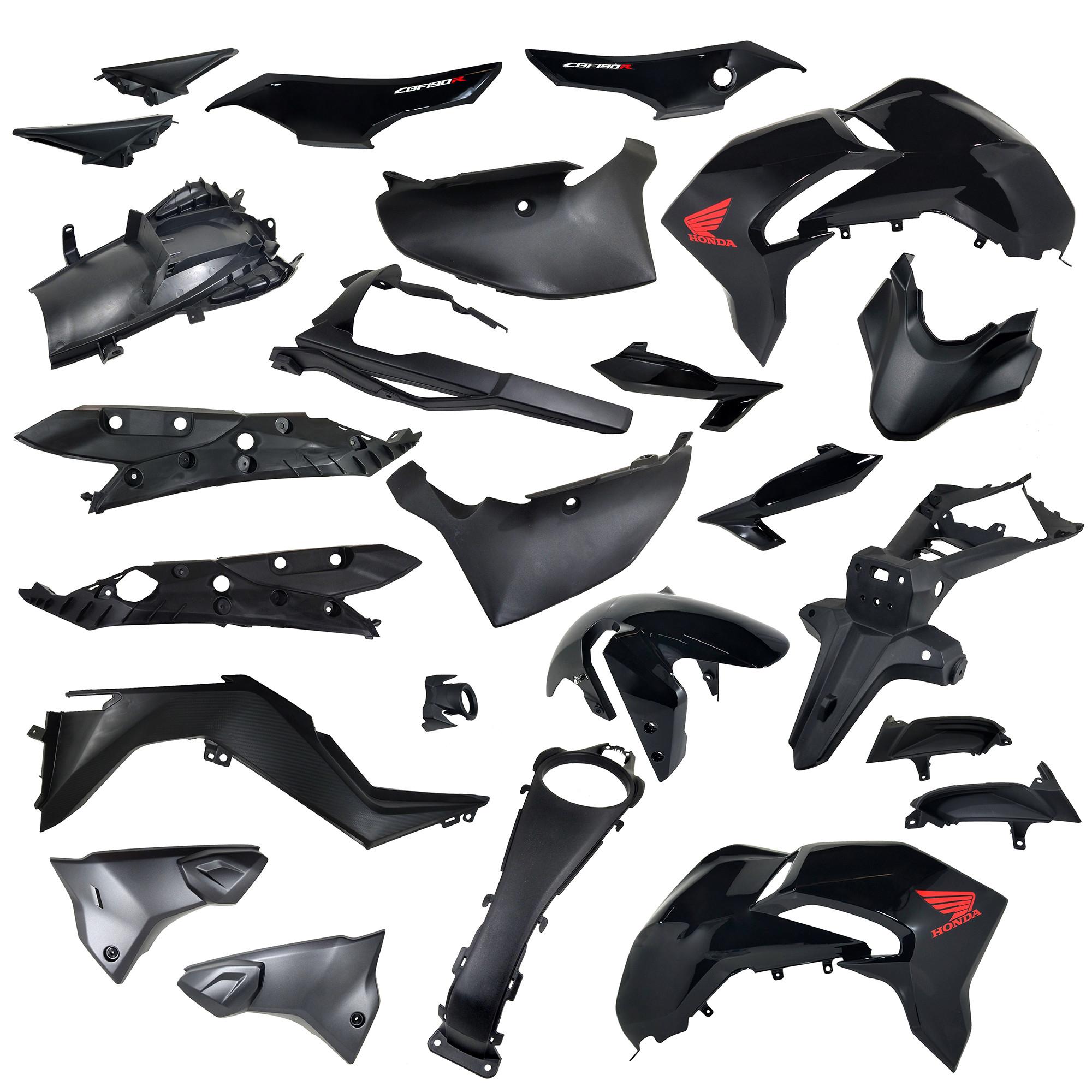 Kit Plasticos 24 Piezas Completo Honda Cb 190 R Negro Yoyo