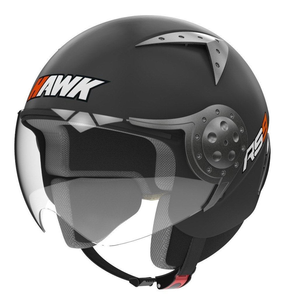 Casco Abierto Hawk Rs9 Negro Mate