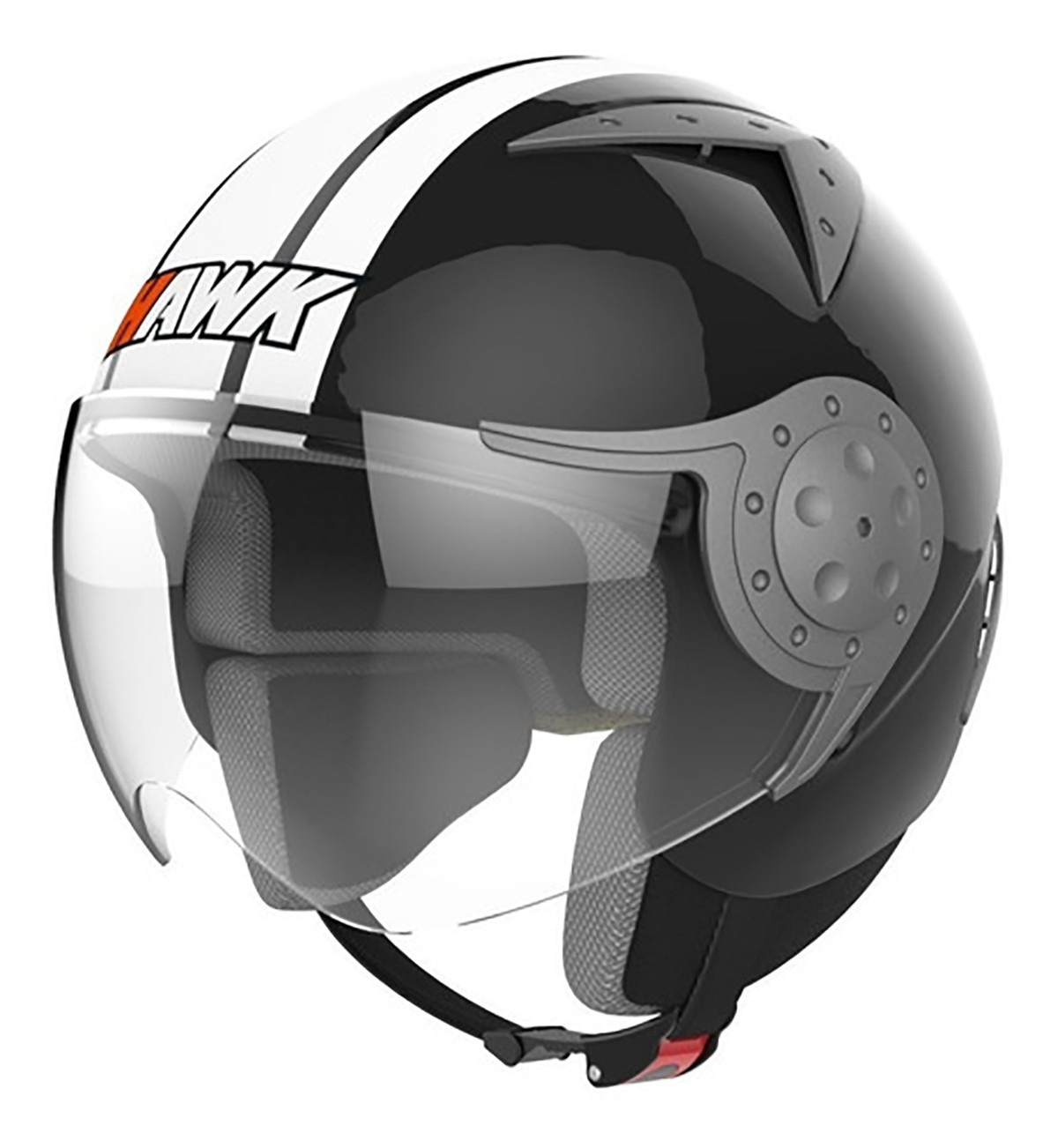 Casco Abierto Hawk Rs9 Negro Brillo