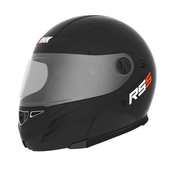 Casco Rebatible Hawk Rs5 Flip Up Negro Brillo