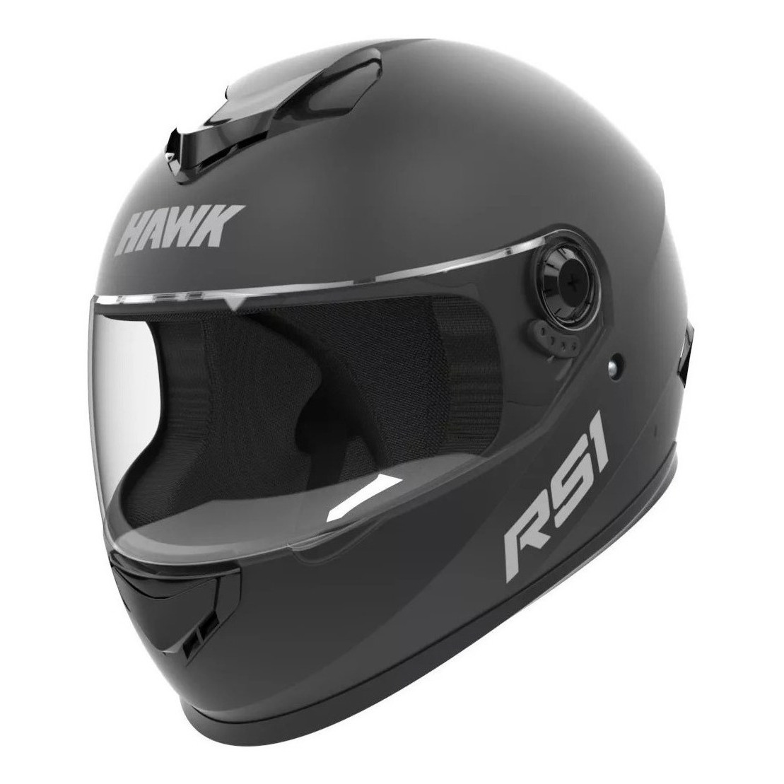 Casco Integral Hawk RS1 Negro Mate / Blanco