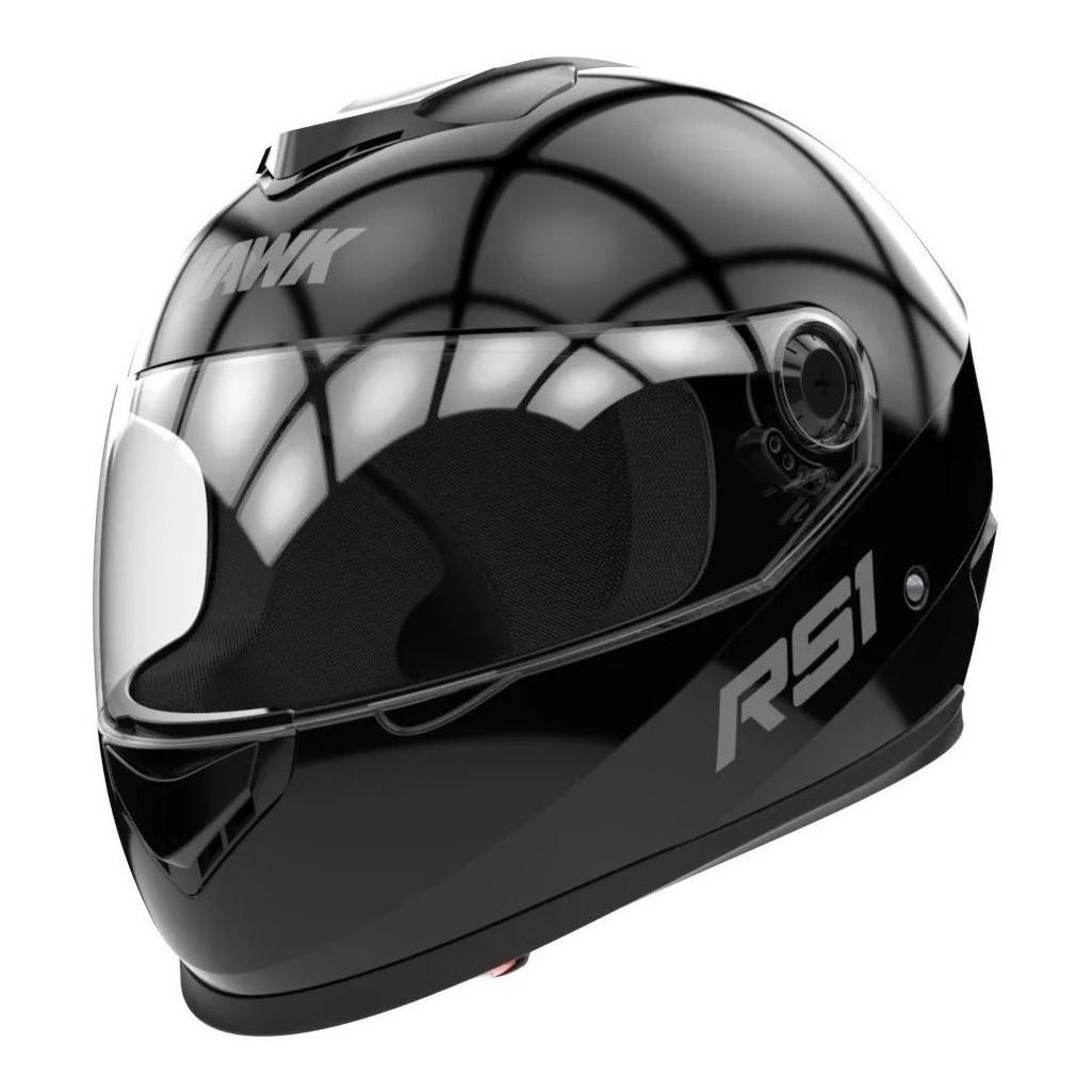 Casco Integral Hawk RS1 Negro Brillo