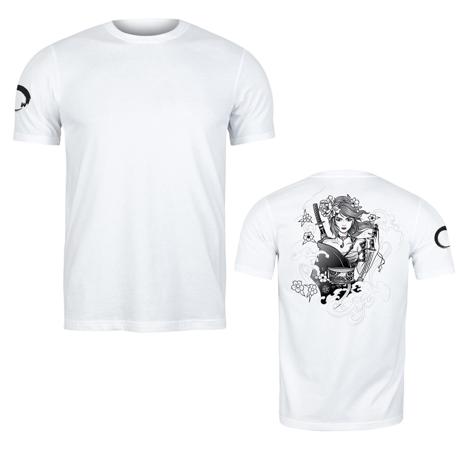 Remera Algodon Samurai Warrior Brave Blanco