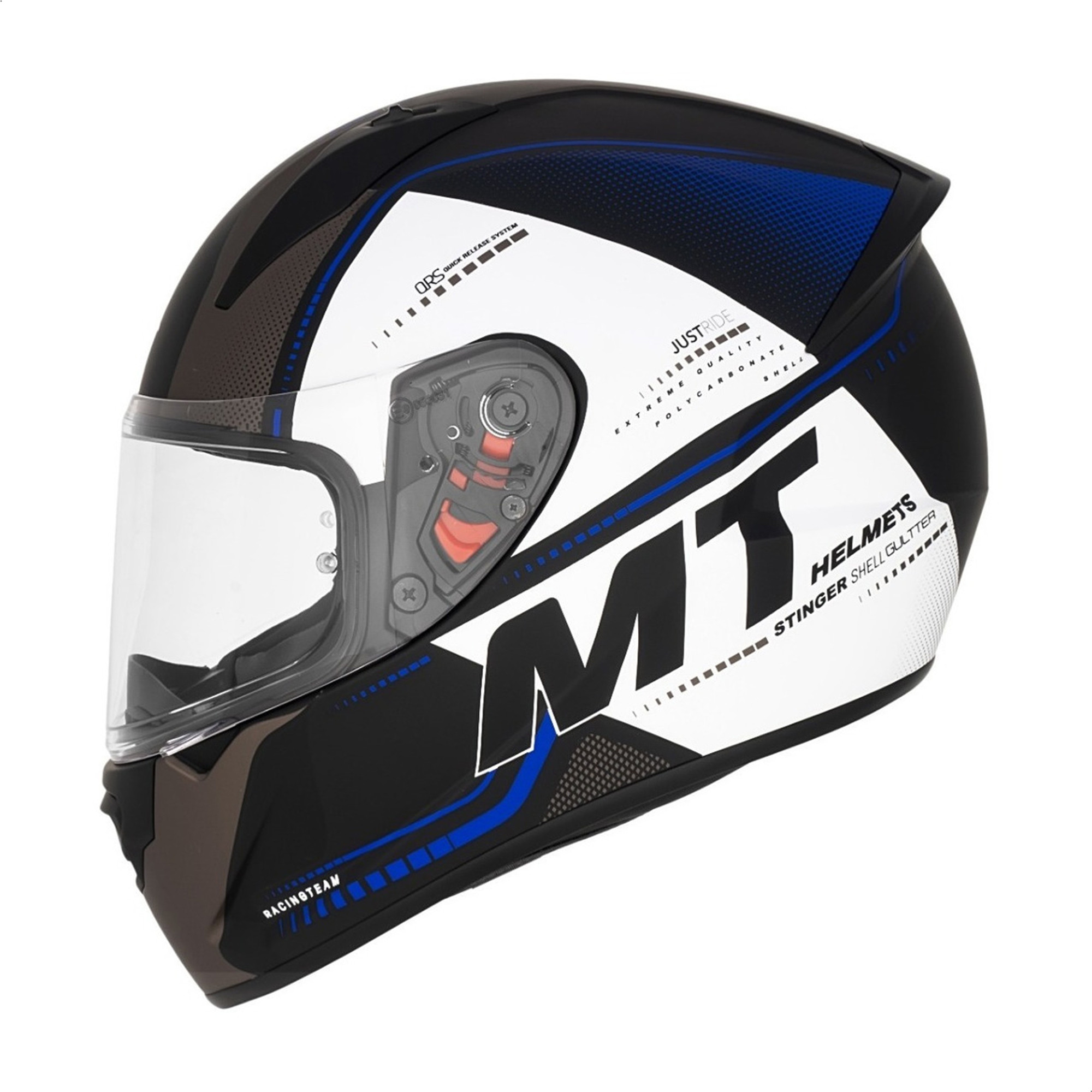 Casco Integral Mt Stinger Gultter C7 Azul Mate