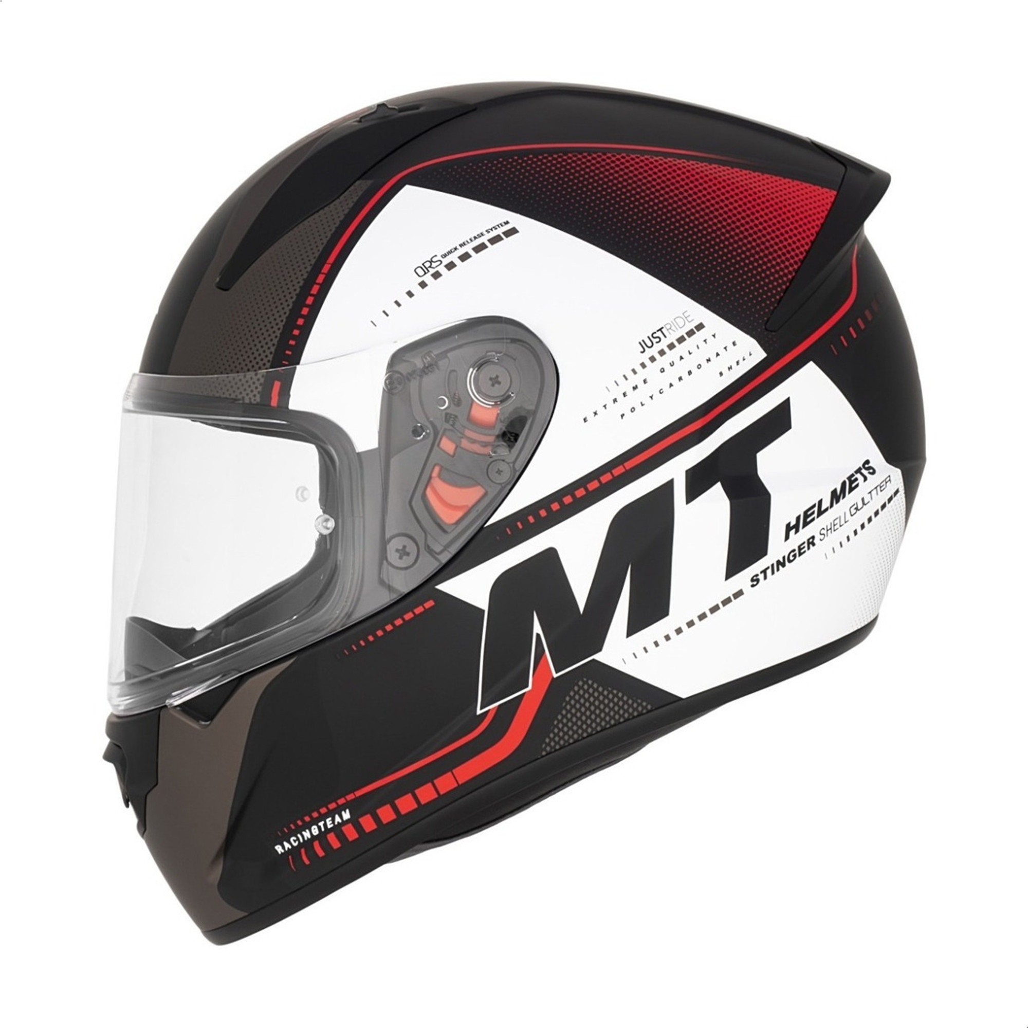 Casco Integral Mt Stinger Gultter C5 Rojo Mate