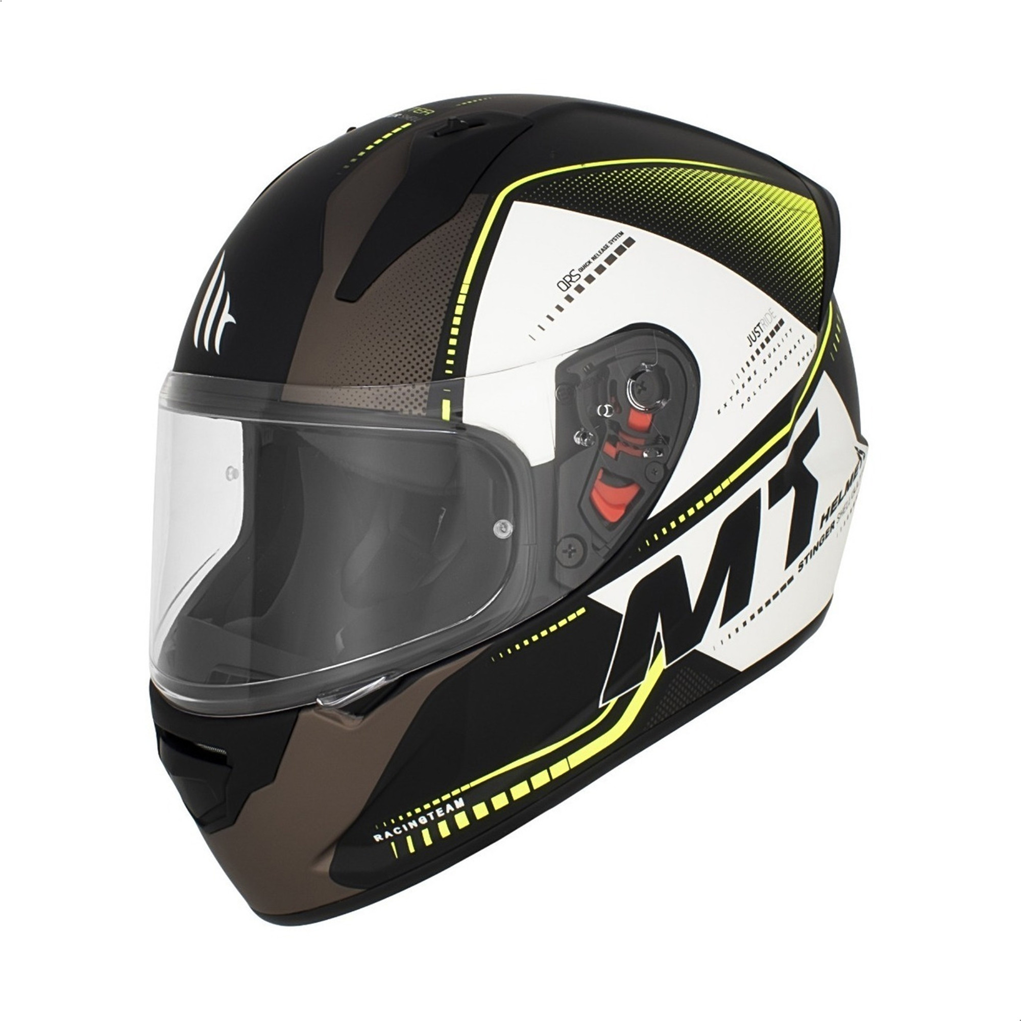 Casco Integral Mt Stinger Gultter C3 Amarillo Mate