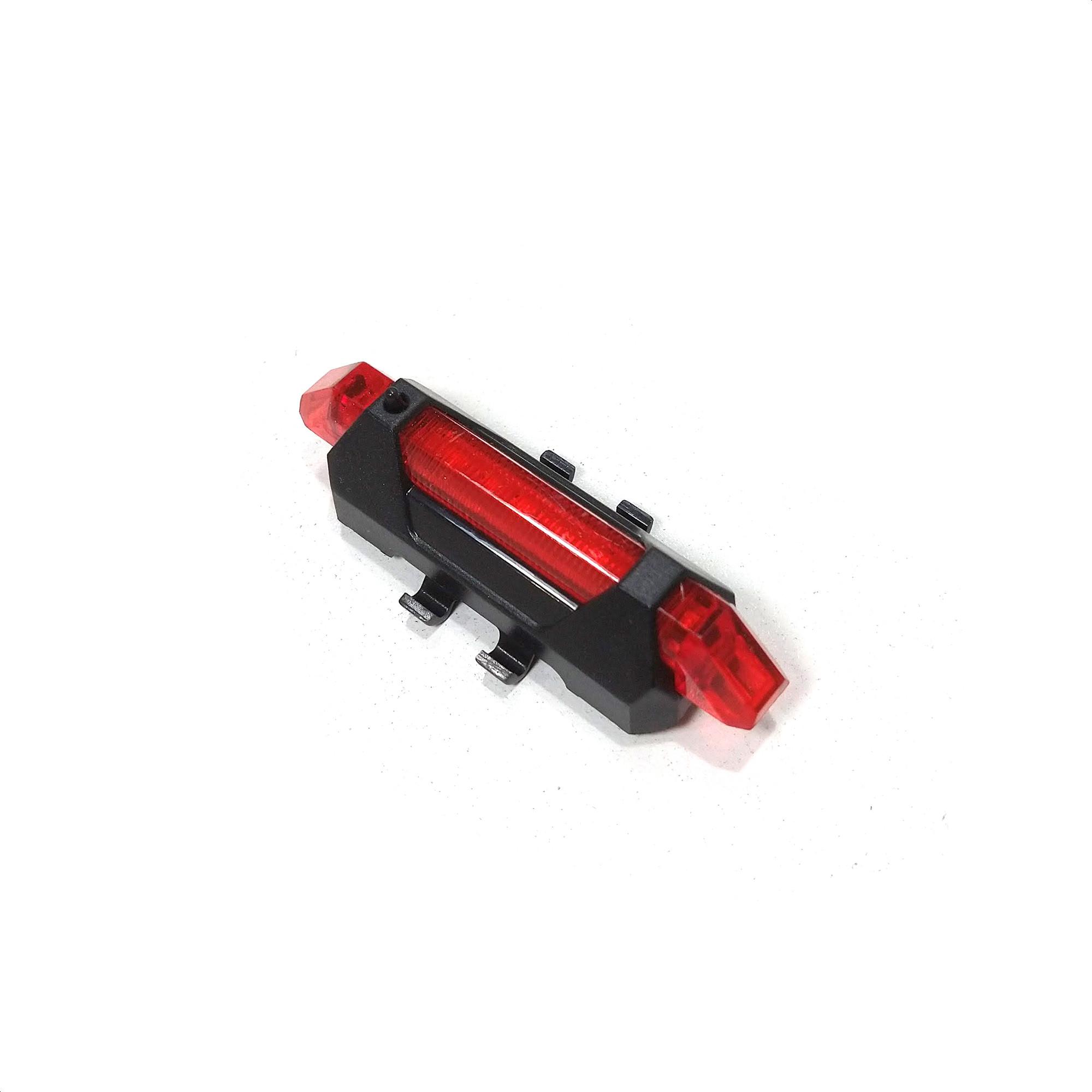Luz Bicicleta 5 Leds Roja 4 Funciones Recargable