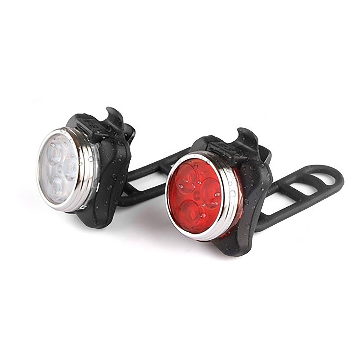 Kit Luces LED Bicicleta delantera trasera Recargables usb