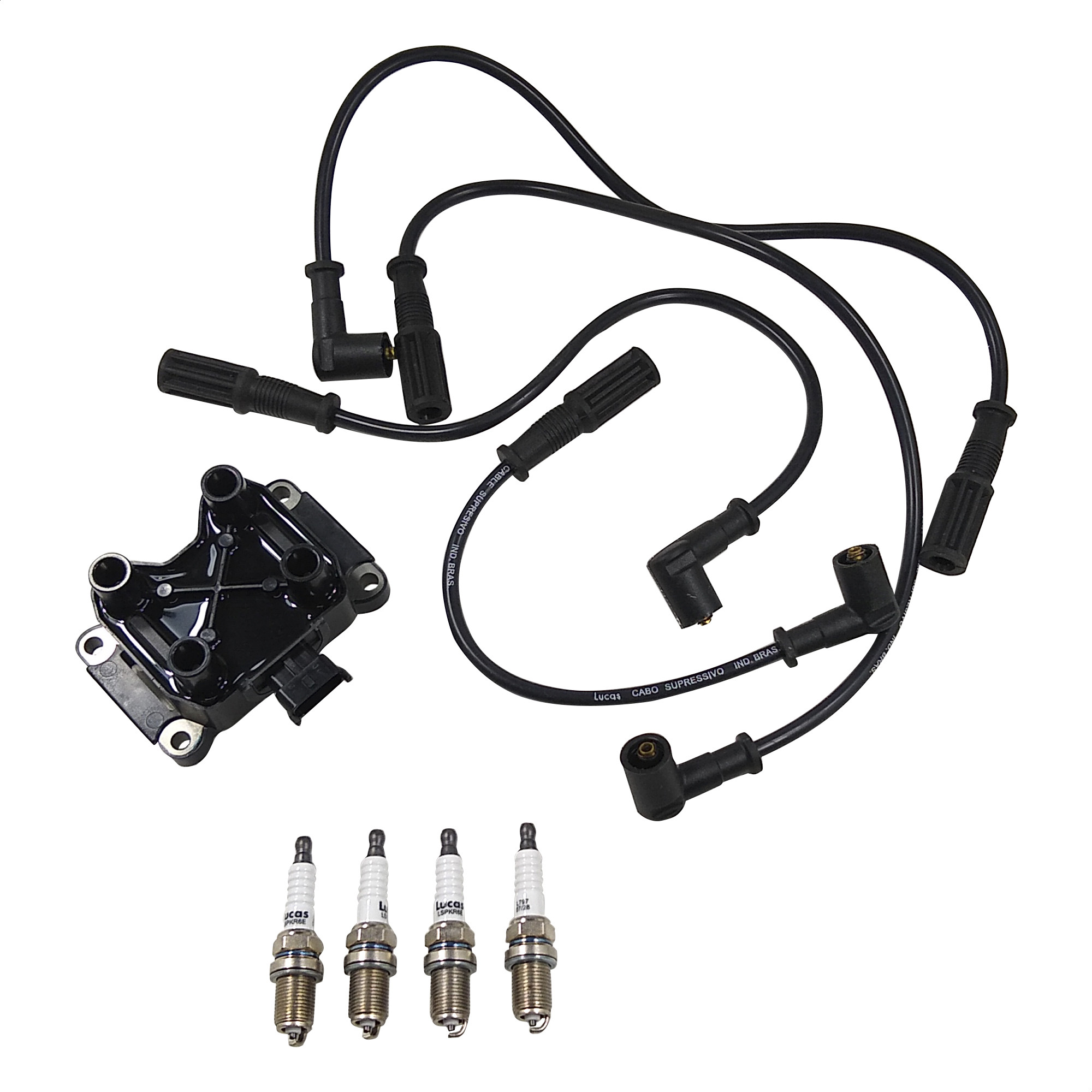 Kit de Encendido Bobina / Cables / Bujia Fispa L100018