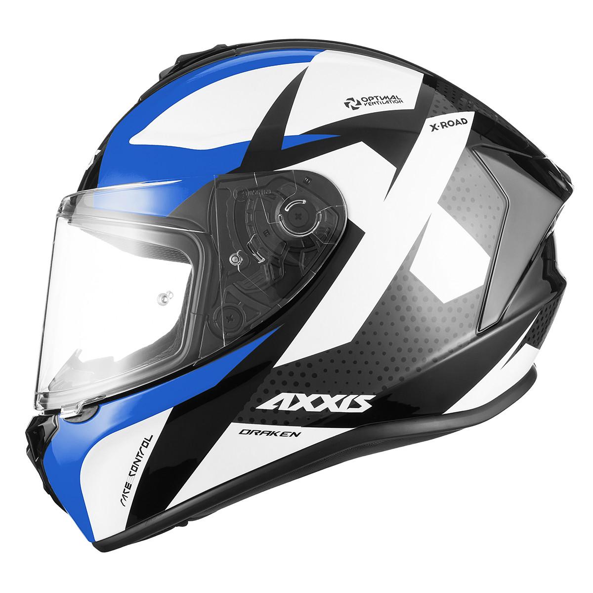 Casco Integral Axxis Draken X-road B1 Azul