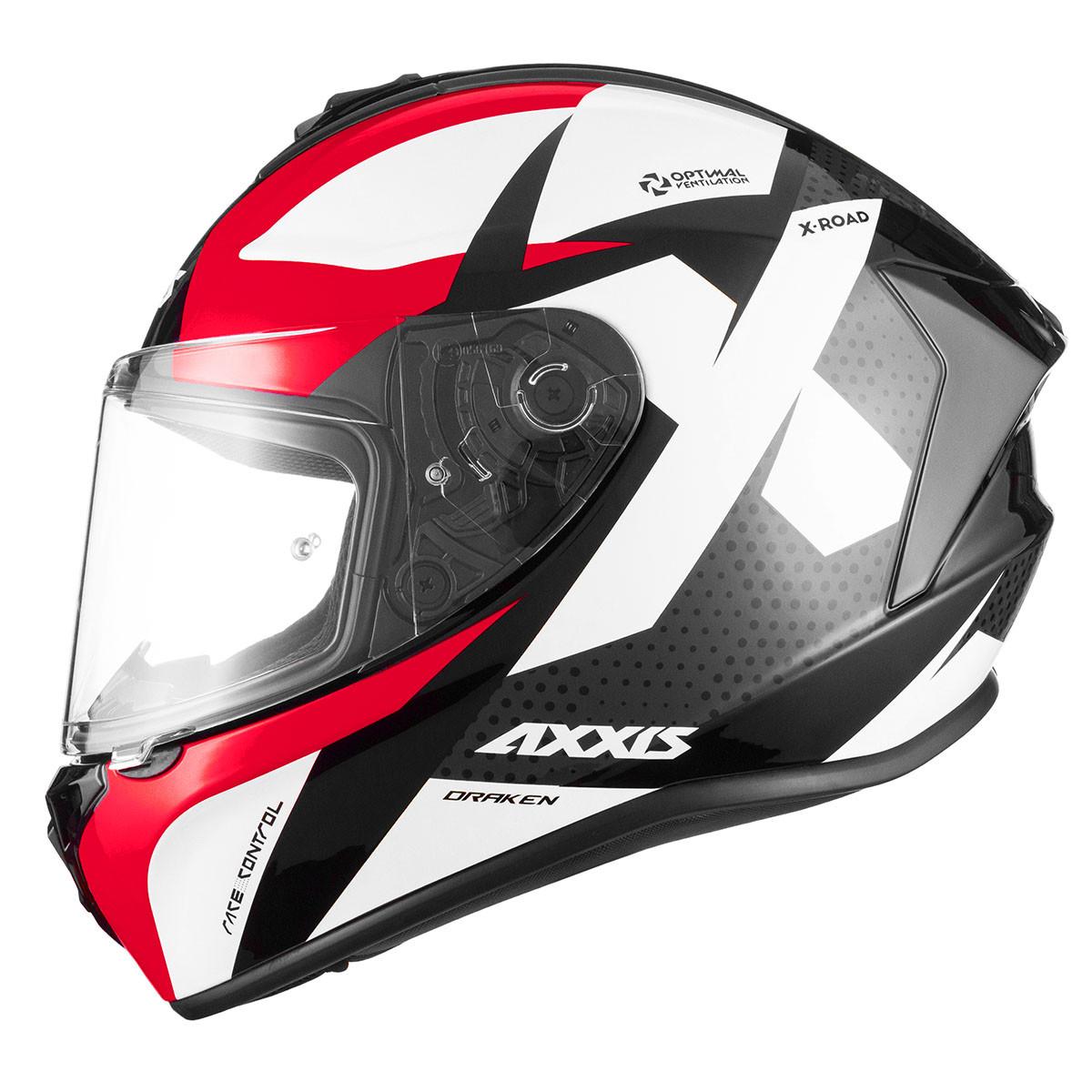 Casco Integral Axxis Draken X-road B2 Rojo