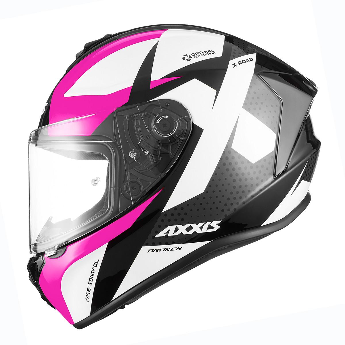 Casco Integral Axxis Draken X-road B3 Rosa