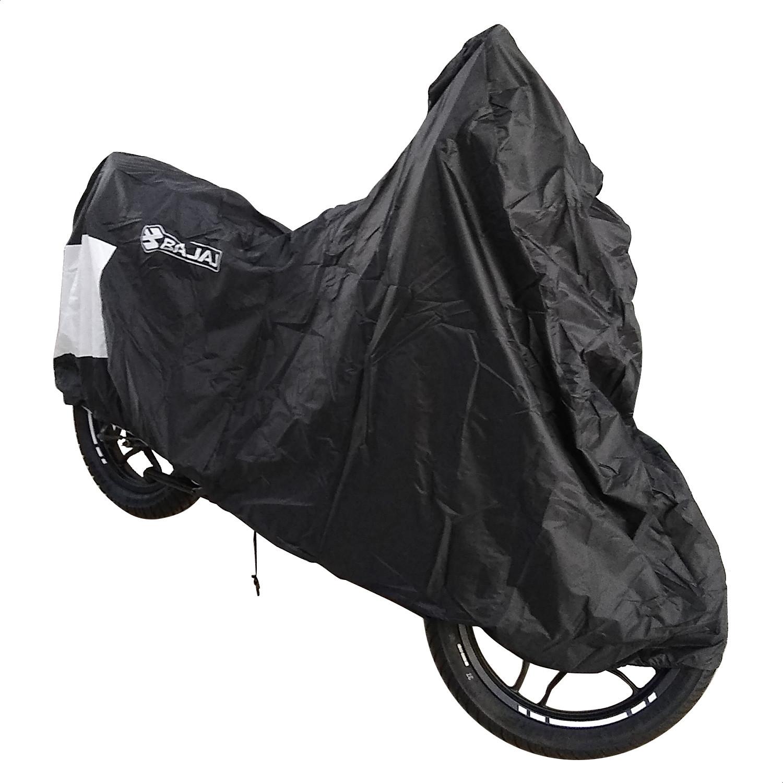 Funda Cubre Moto Cycle Bajaj Negra Con Agarres