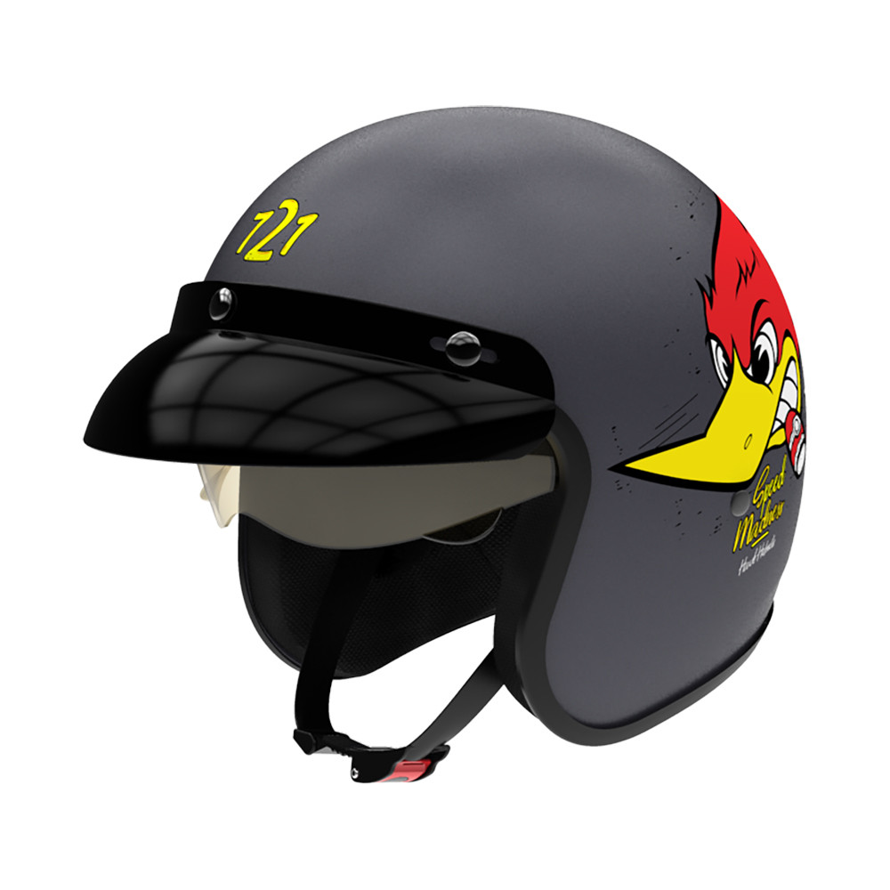 Casco Abierto Hawk 721 Speed Madness Gris