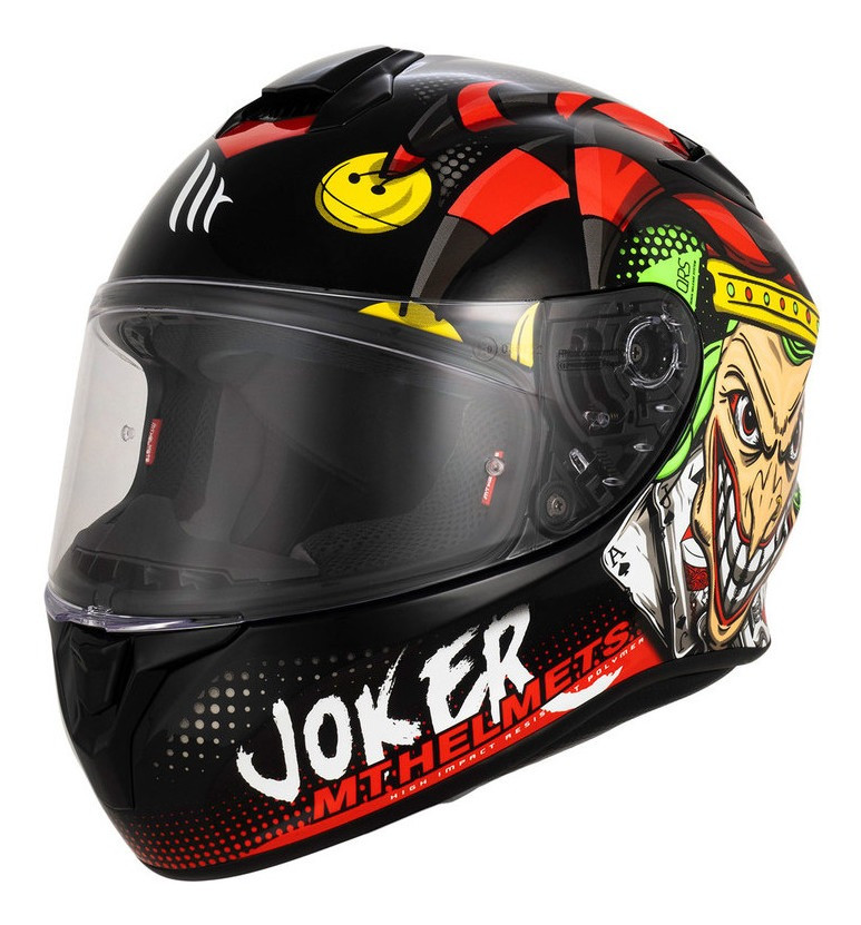 Casco Integral Mt Thunder Joker Targo A1 Negro