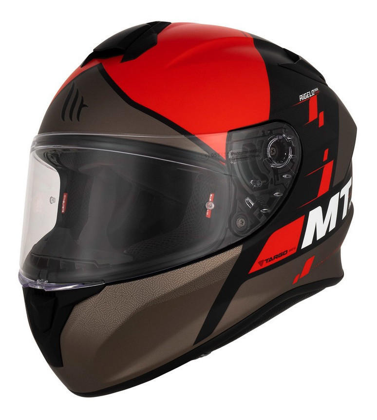 Casco Integral Mt Thunder Rigel A5 Rojo Mate