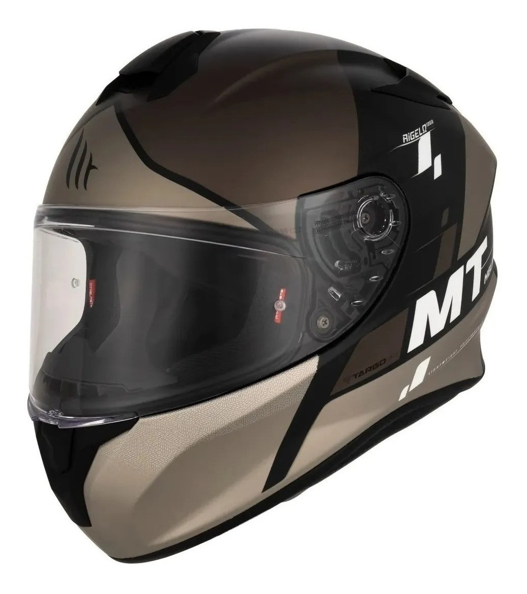 Casco Integral Mt Thunder Rigel B2 Gris Mate