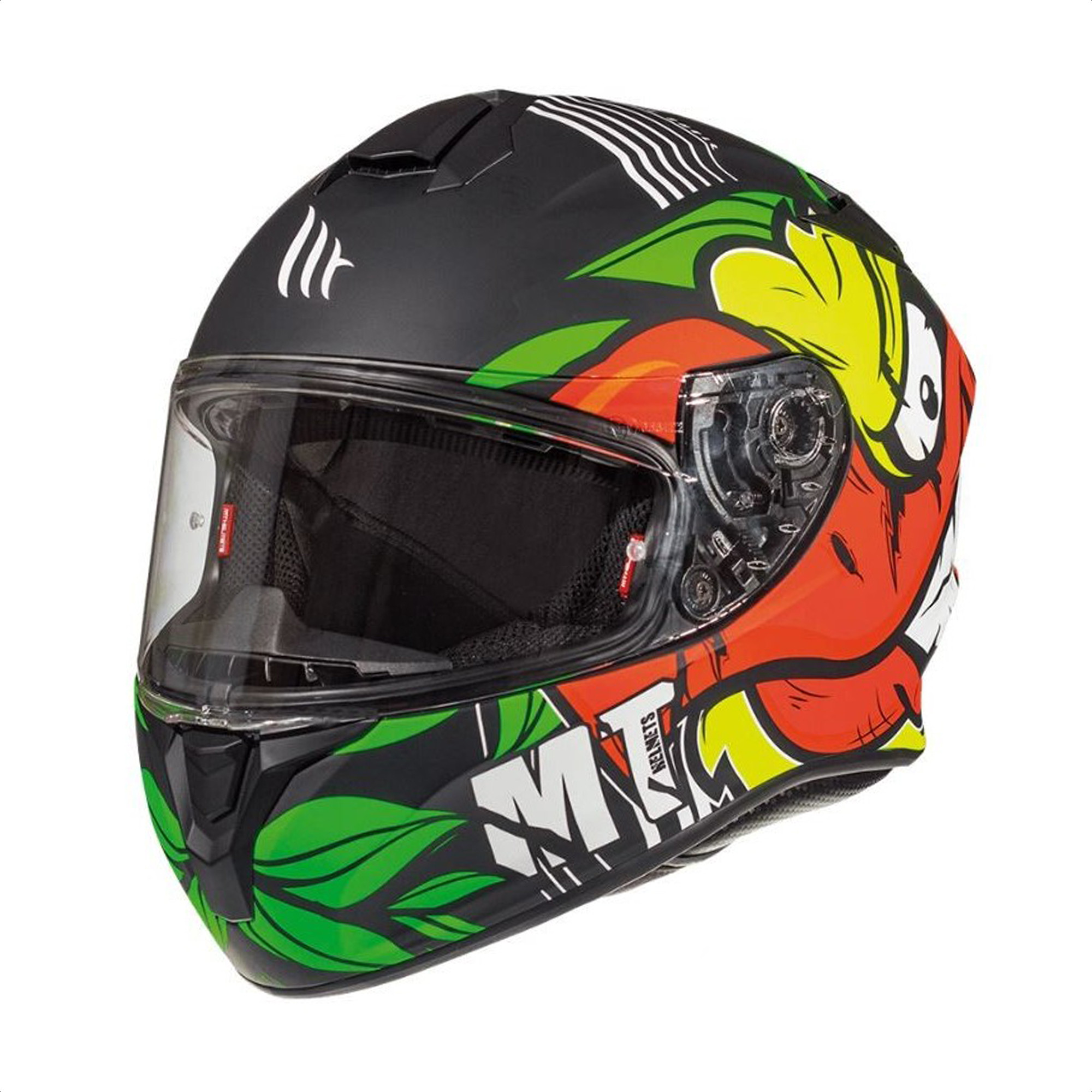 Casco Integral Mt Thunder Truck A2 Amarillo Mate