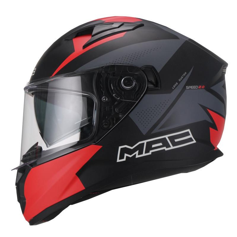 Casco Integral Doble Visor Mac Speed 2.0 Raven Negro
