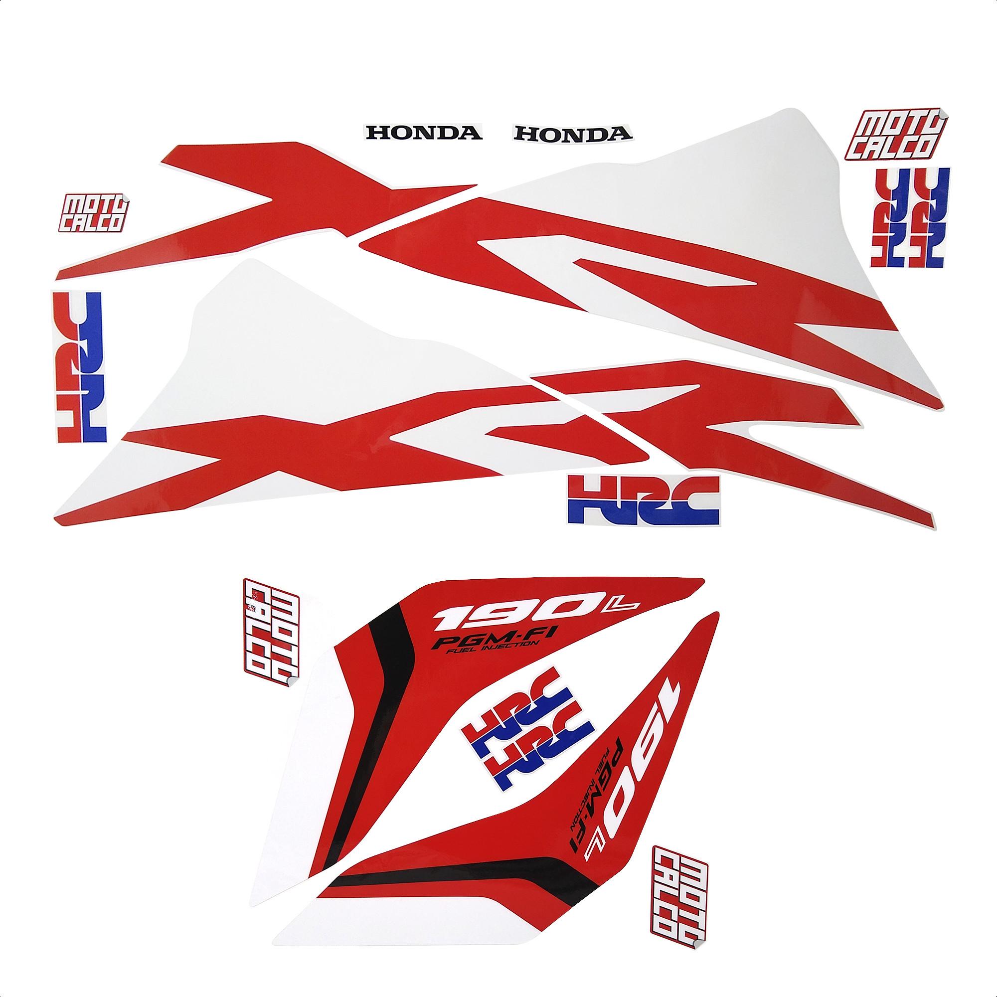 Kit Calcos Honda Xr 190 Blanco 2018 2019 14 Piezas