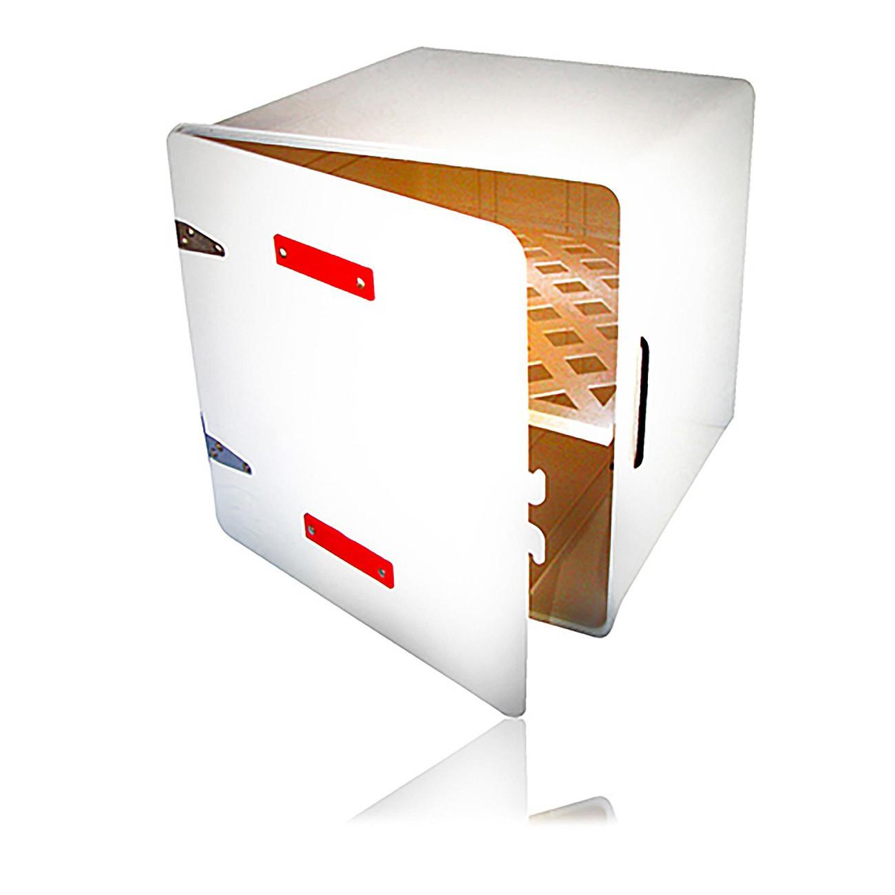 Caja Delivery Pizzera Blanca con Estante Doble Ojo de Gato VC