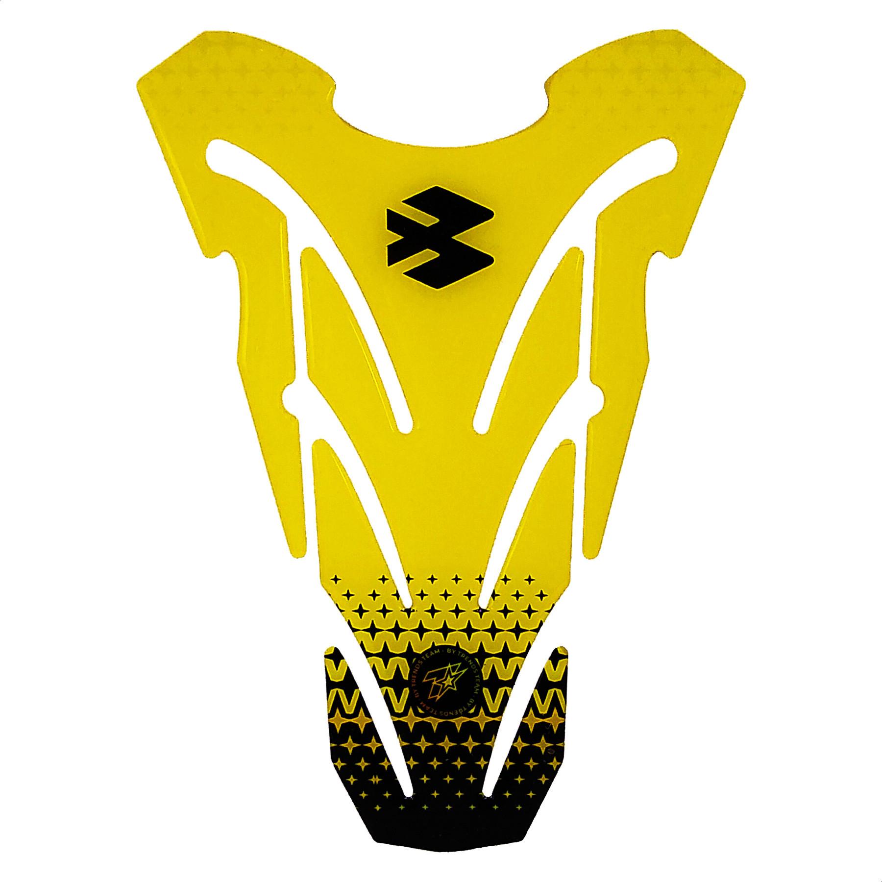 Pad Protector de Tanque Bajaj Amarillo TT B03 Trends Team