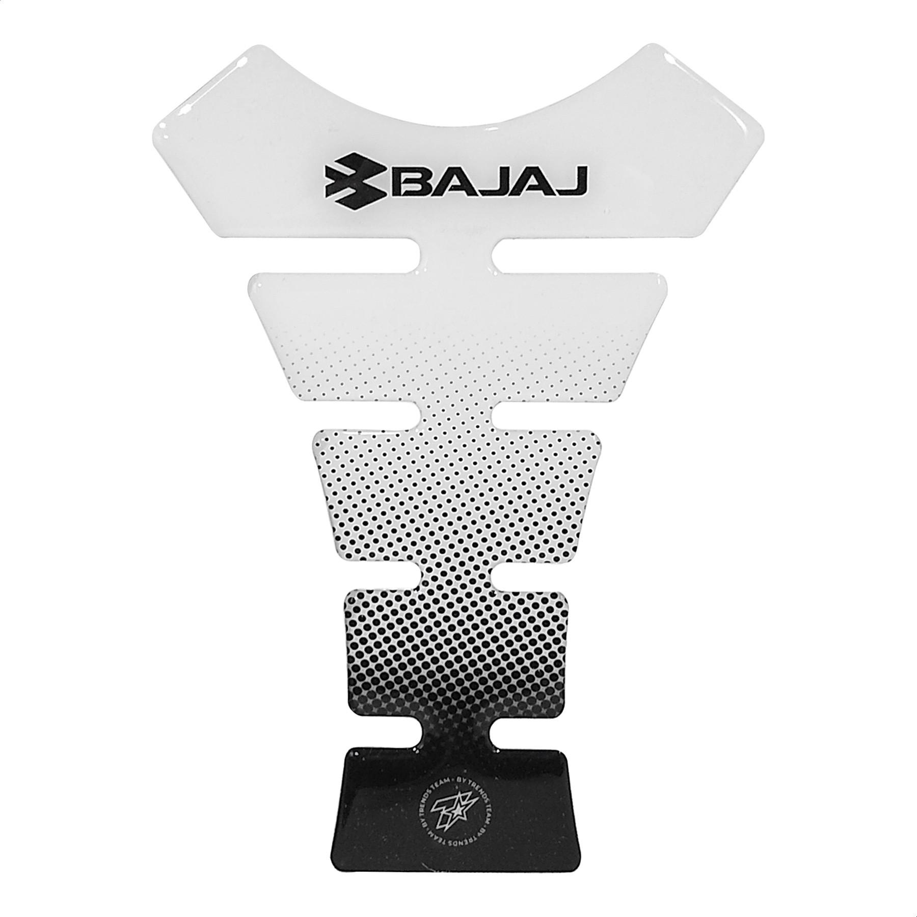 Pad Protector de Tanque Bajaj Blanco TT B04 Trends Team