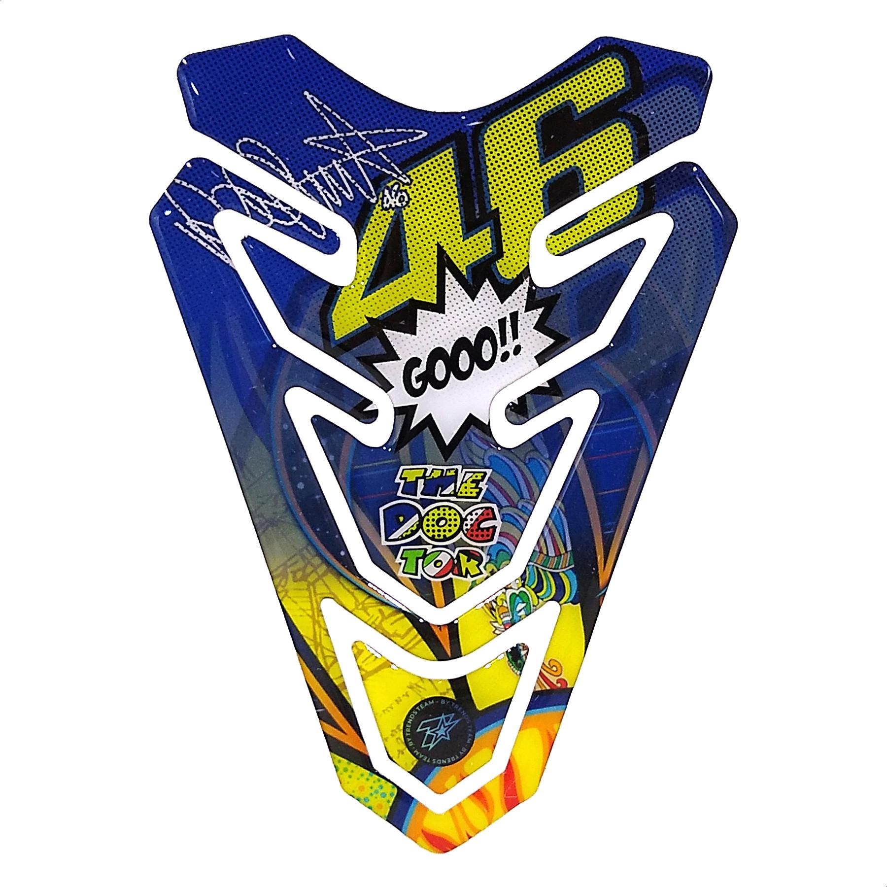 Pad Protector de Tanque Rossi 46 Azul The Doctor R46.02 Trends Team