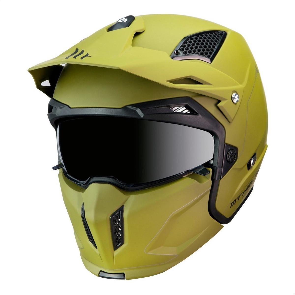 Casco Modular MT Streetfighter A6 Verde Mate