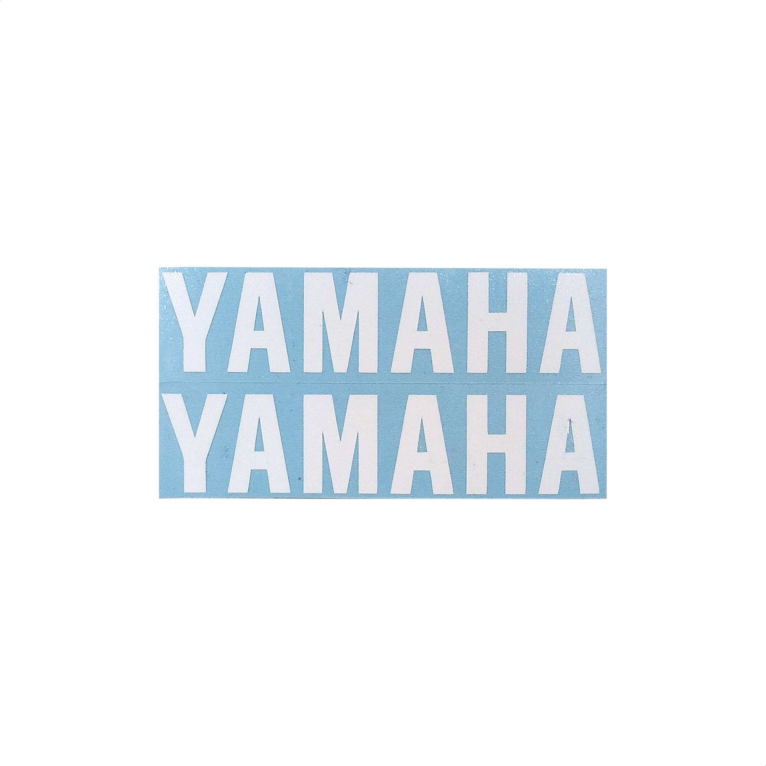 Calco Yamaha blanco GuardabarroS Trasero Delantero X2 Unidades