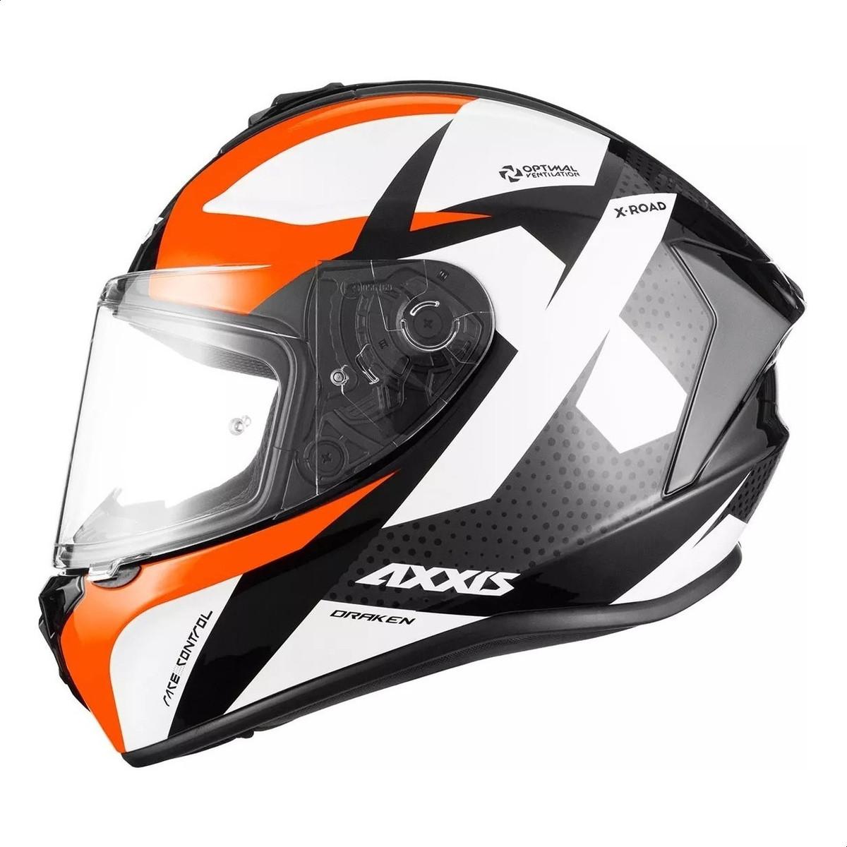 Casco Integral Axxis Draken X-Road B5 Naranja