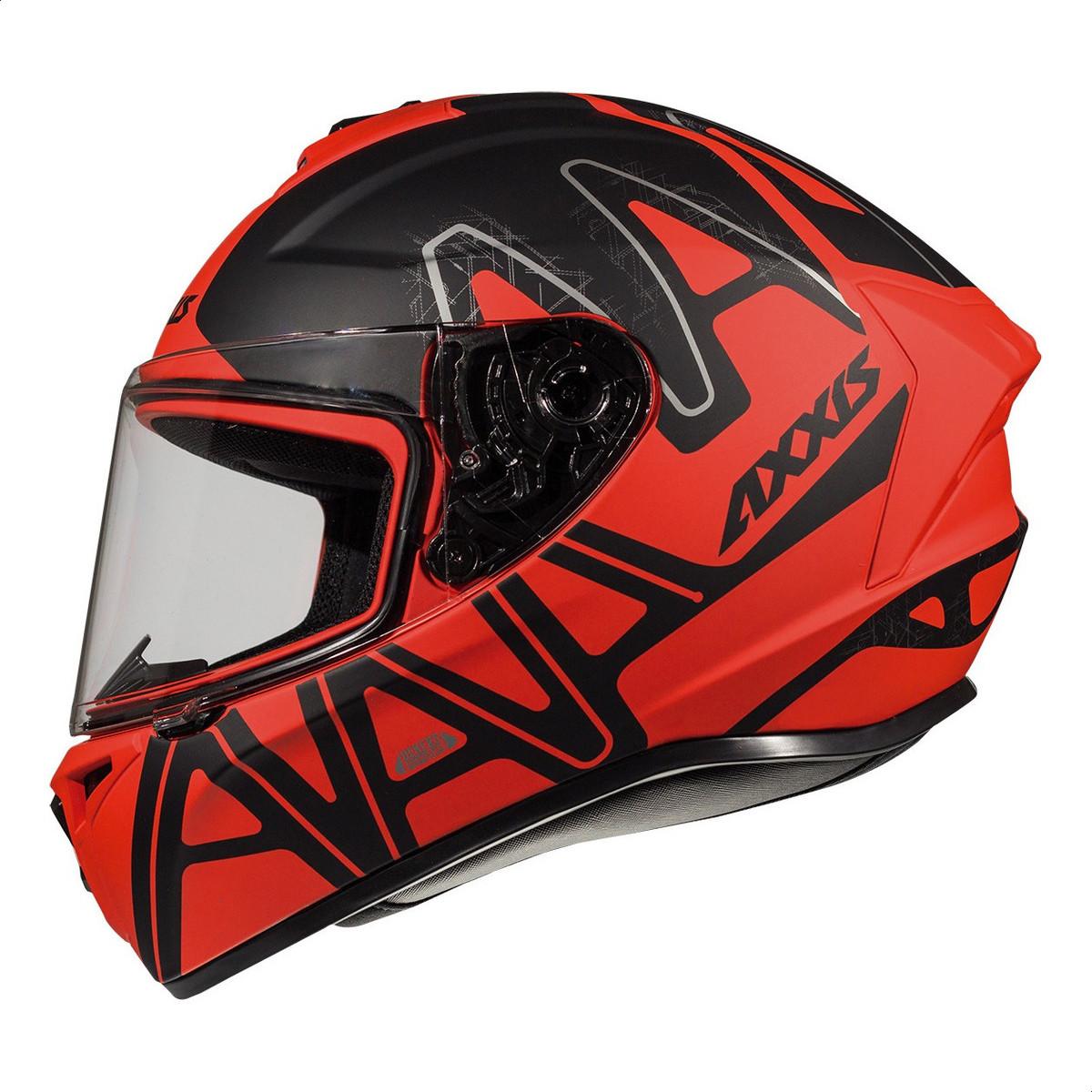 Casco Integral Axxis Draken Dekers C2 Rojo Mate