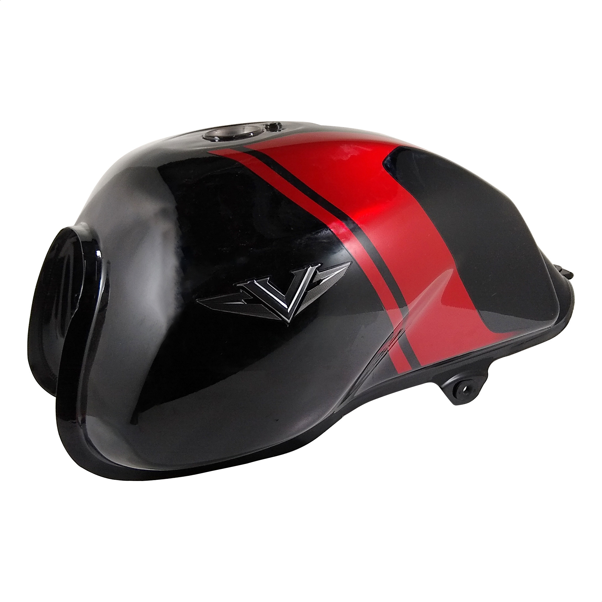 Tanque de Nafta Bajaj V15 Negro Rojo Original