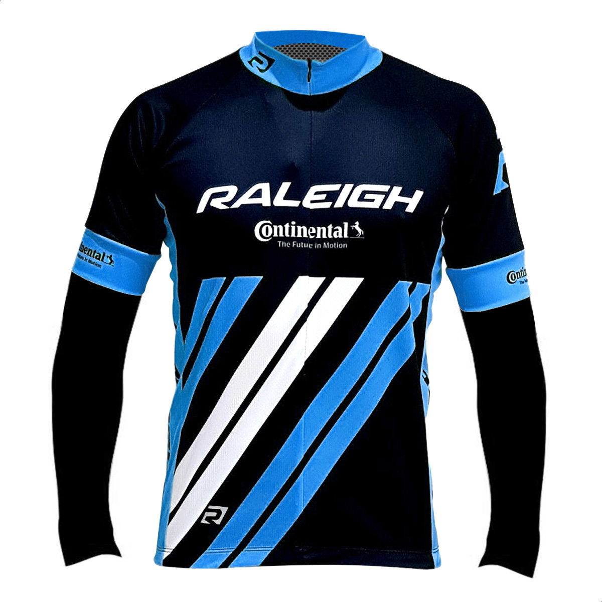 Remera Jersey Manga Larga Bicicleta Raleigh Negro Azul