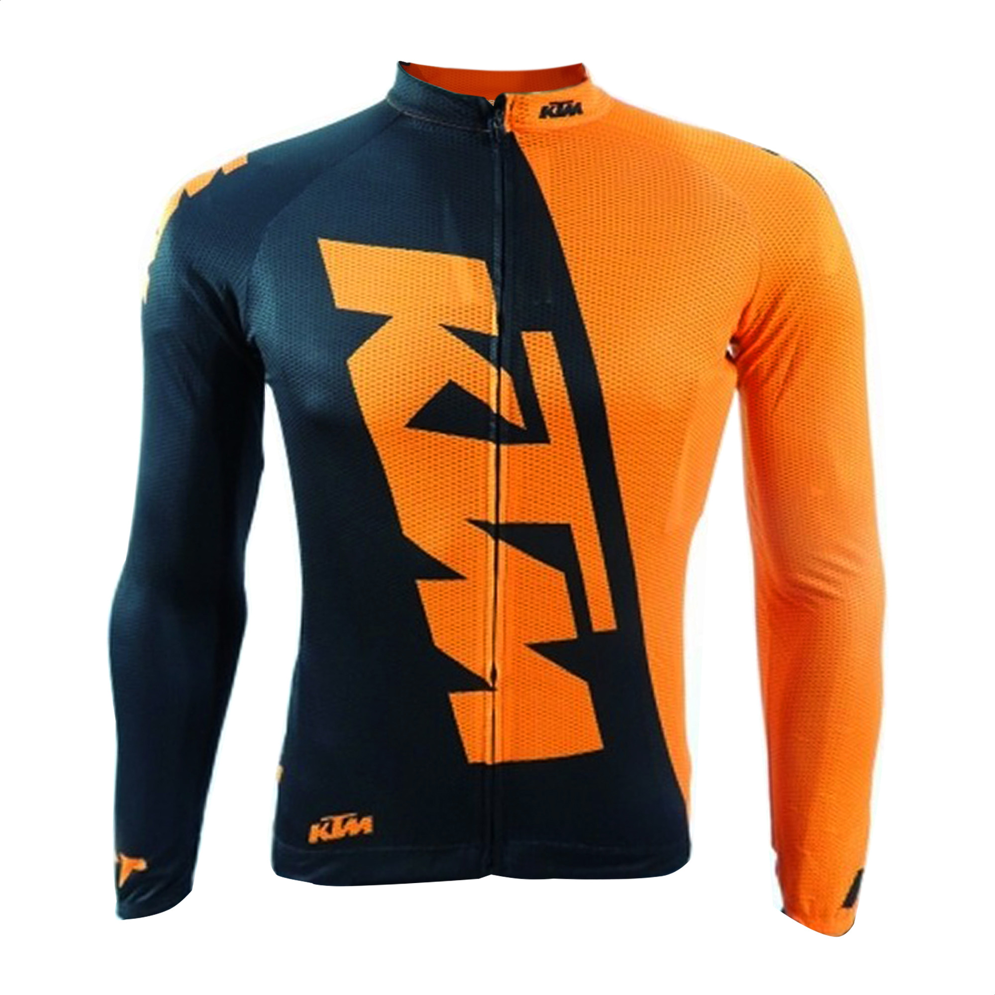 Remera Jersey Manga Larga Bicicleta KTM Team Negro Naranja
