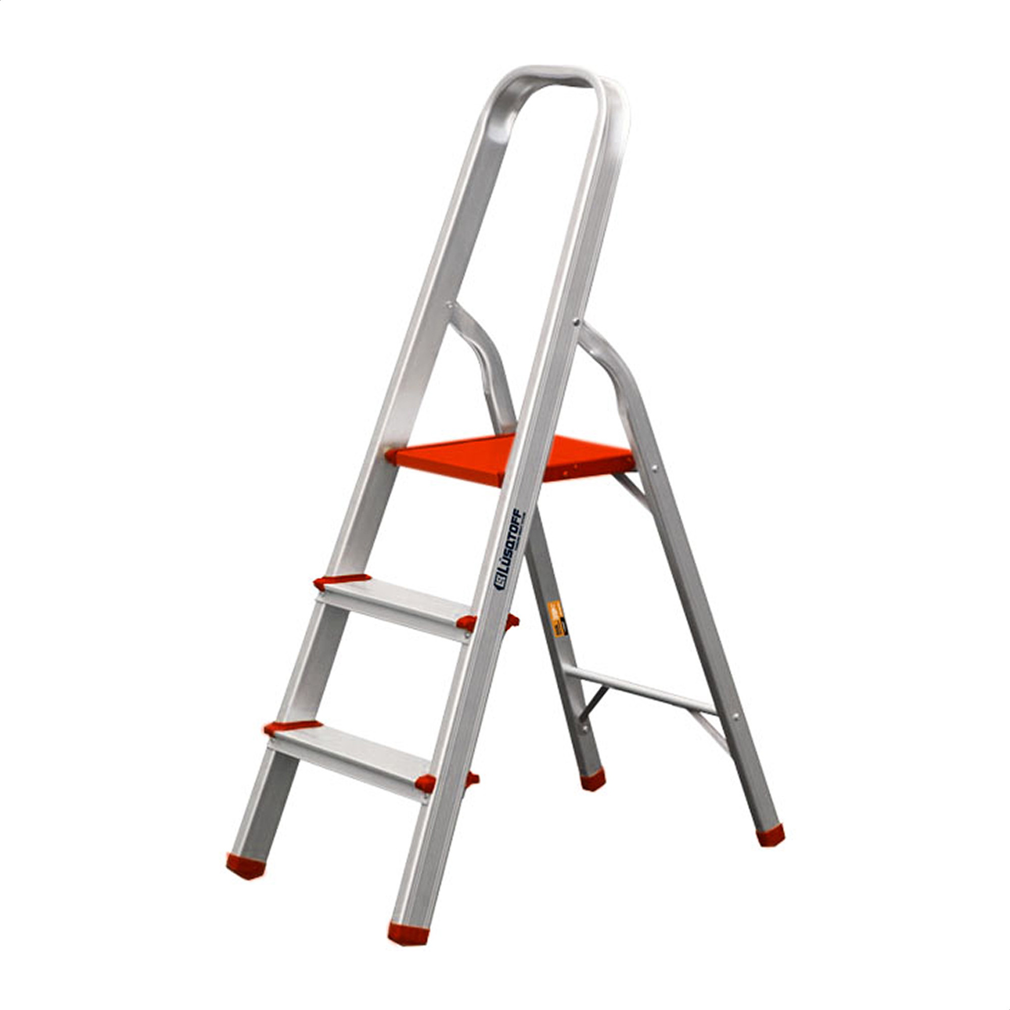 Escalera Hogareña 3 Escalones 109 Cm Aluminio / Plastico Lusqtoff ESL118-73