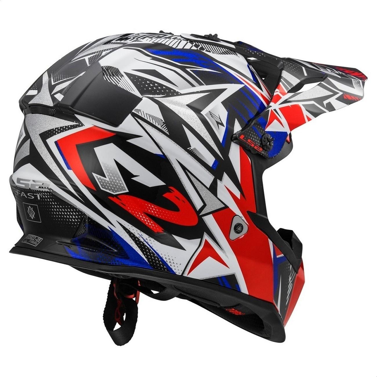 Casco Enduro MX LS2 437 Fast Strong