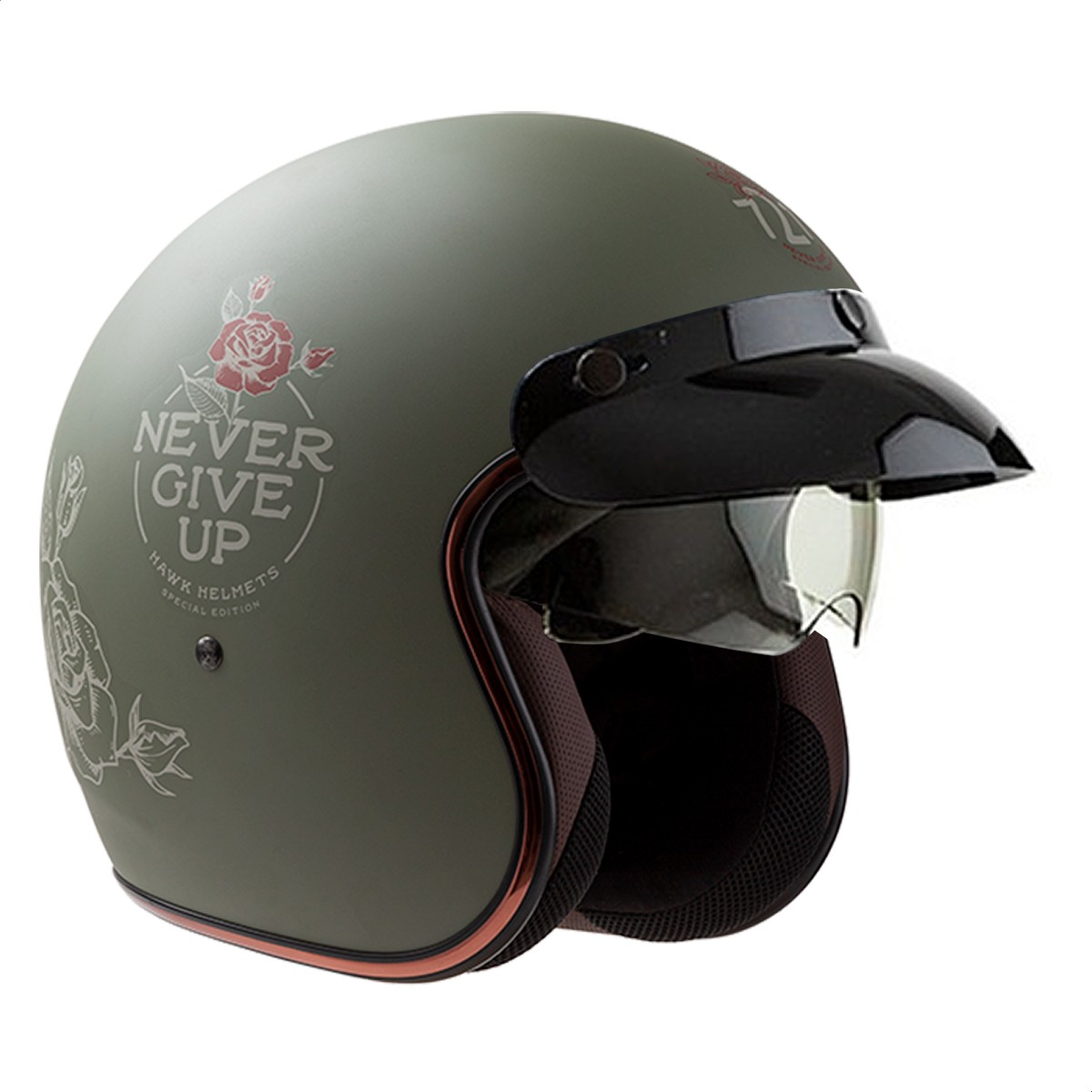 copy of Casco Abierto Hawk 721 Never Give Up