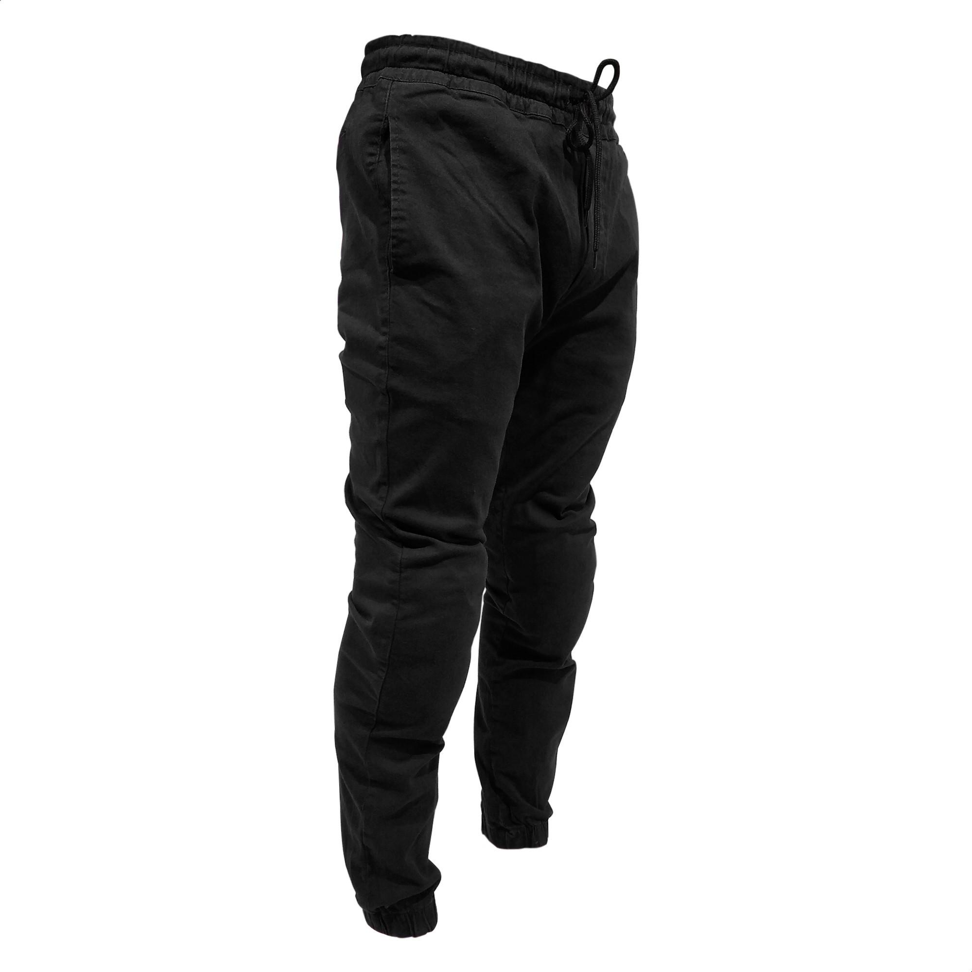 Pantalon Urbano Samurai Warrior Jogger con Proteccion Negro